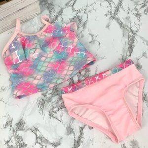 Baby Girl Mermaid Rainbow Scale 2 piece swimsuit